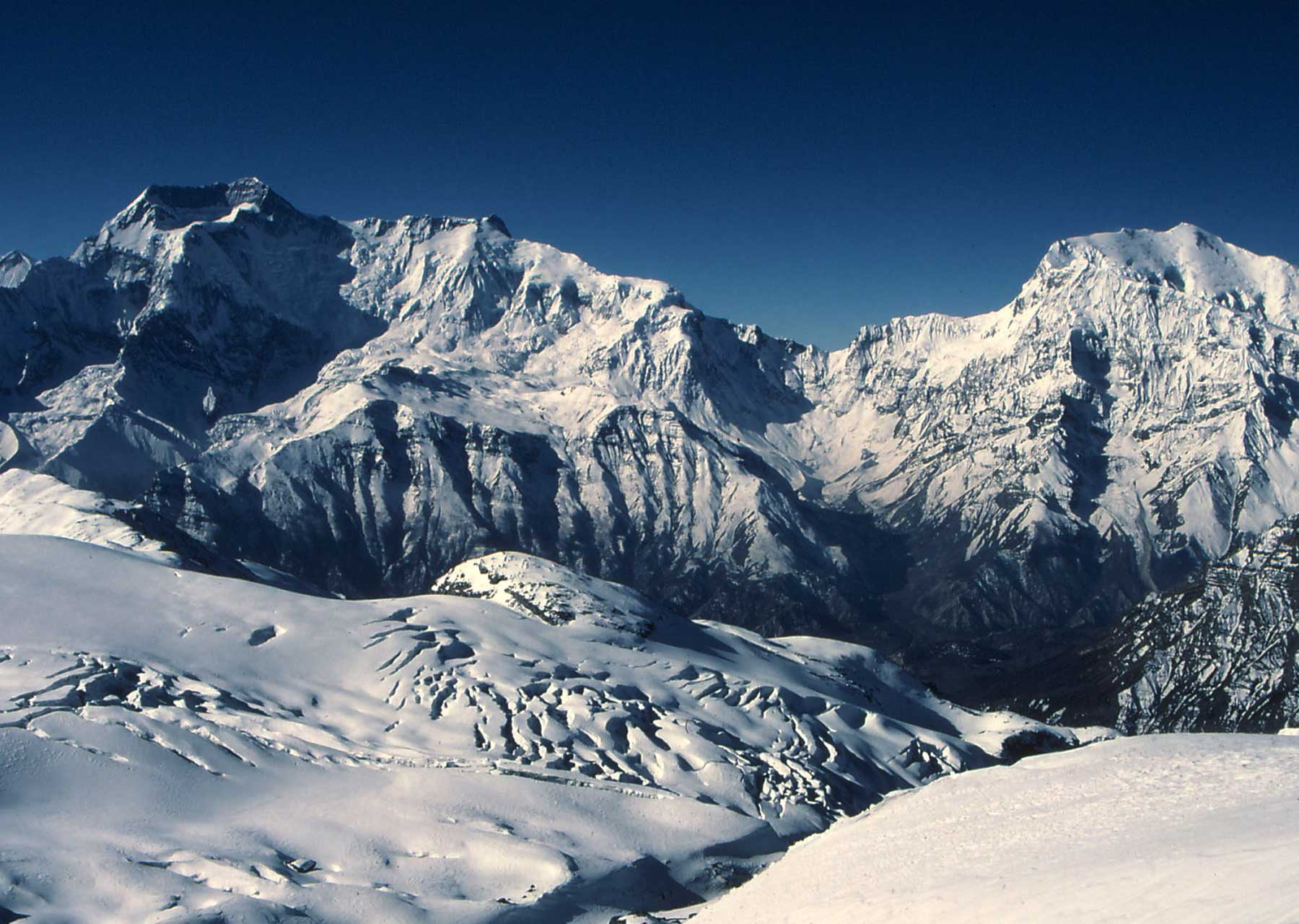Chulu West Climbing