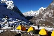 Mera base camp arrangement