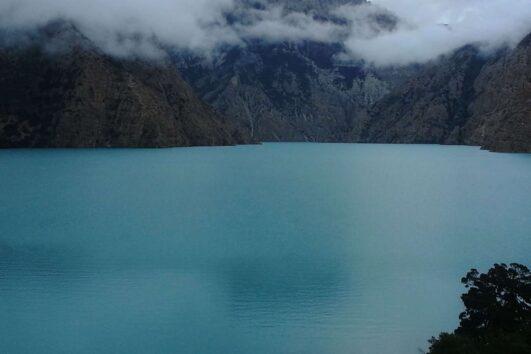 The alpine lake en route dolpo trek