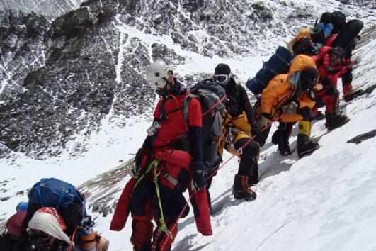 Everest Climbing caravan